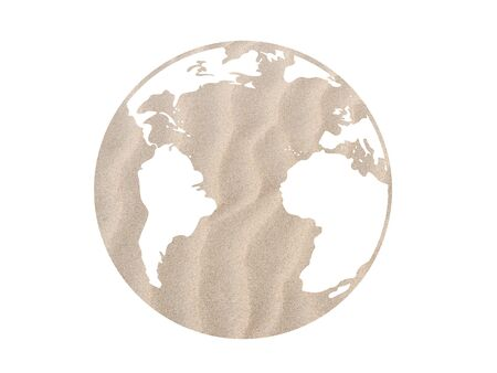 Sand textured globe