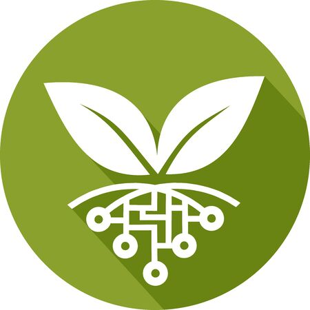 Icon of agriculture managed by new technologies 向量圖像