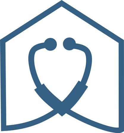 Icon of a nursing home Vetores