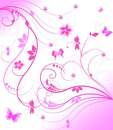 abstract floral background Stock Photo - 7046970