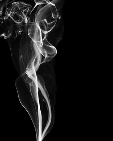 Smoke with dark background photo