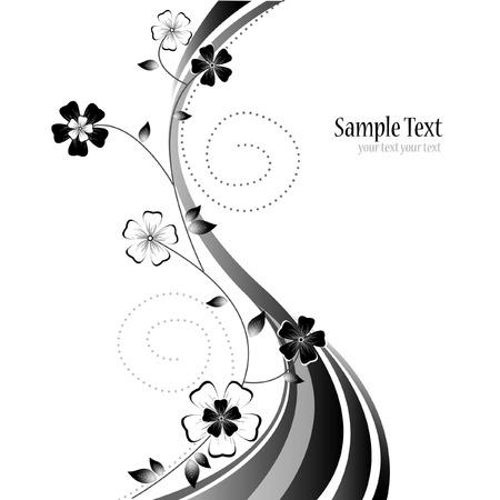 floral vector: Fondo abstracto vectoriales florales