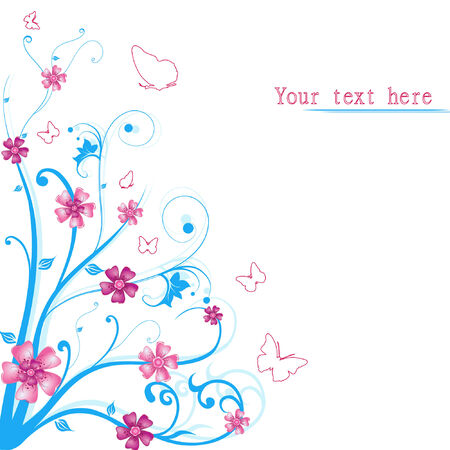 abstract floral vector  Vector