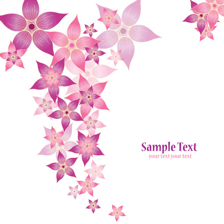 purple swirls: abstract floral vector composition