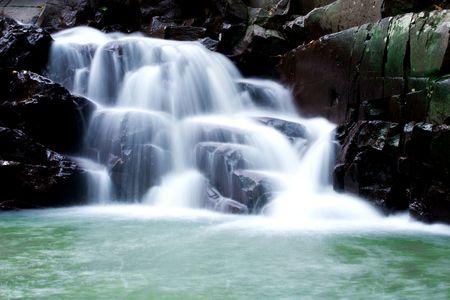 Beautiful waterfall with rocks