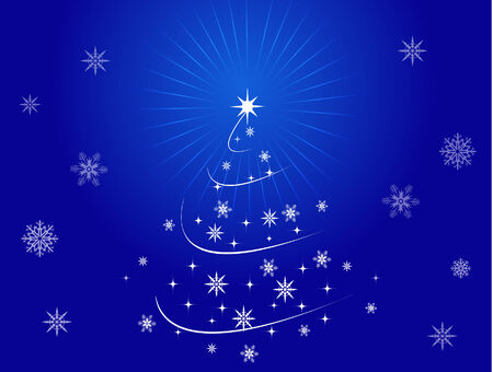 Christmas Cards in blue color Vector