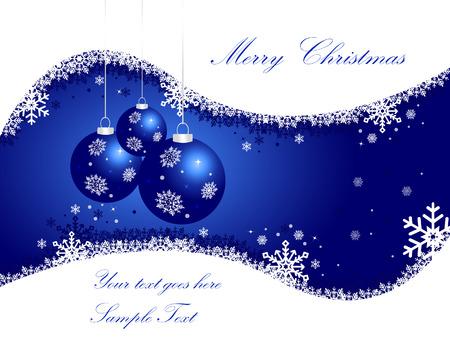 Elegant Blue Christmas Background  Vector