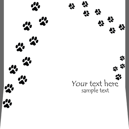 mancsát: black seamless paw prints on white backgrounds - vector