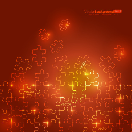 Glowing Puzzle Background  Stock Vector - 8888018