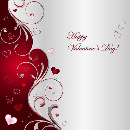 bodas de plata: Fondo de Vector del d�a de San Valent�n