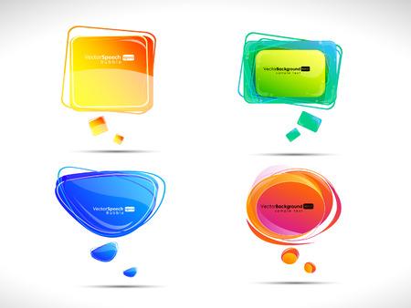 Bolle colorate per discorso  Archivio Fotografico - 8888021