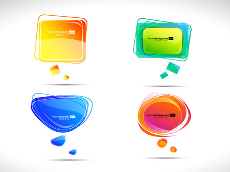 Colorful bubbles for speech  Vector