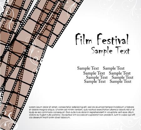 filmroll: filmstrip vector template  Illustration