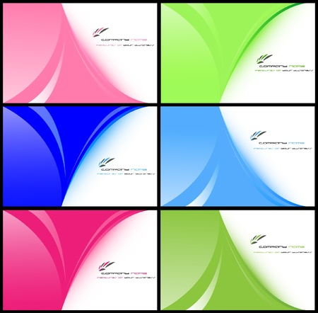 set of business card templates Stock Vector - 9336460
