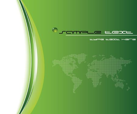 Green business template Stock Vector - 9336508
