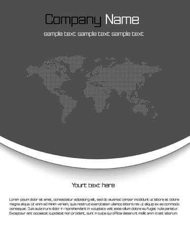 Black business template Vector