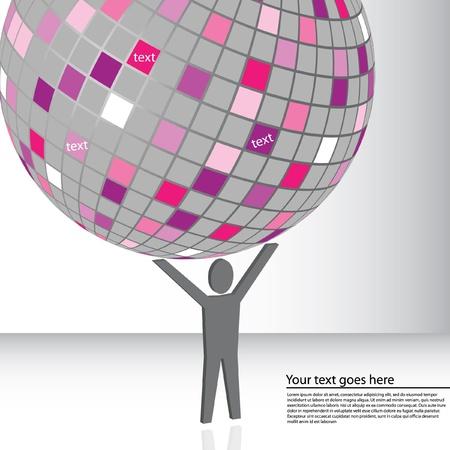 Holding the globe vector illustration