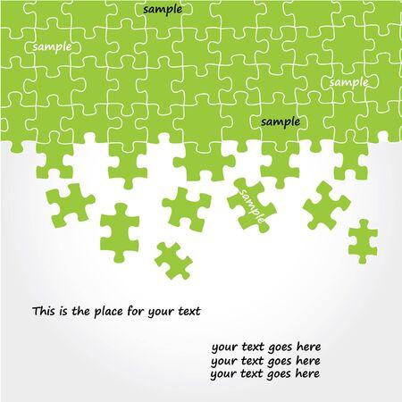 Puzzle vector design  Vector