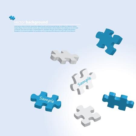 3d puzzle illustration  Illustration