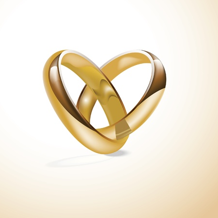 golden wedding rings Stock Vector - 9629988