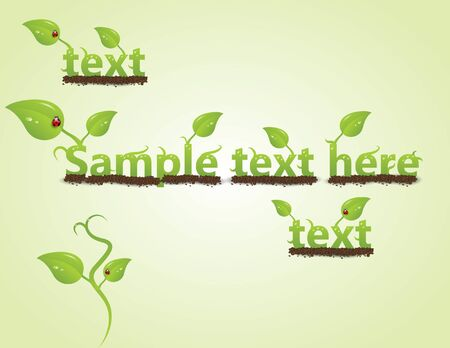 Eco friendly template collection with leaf