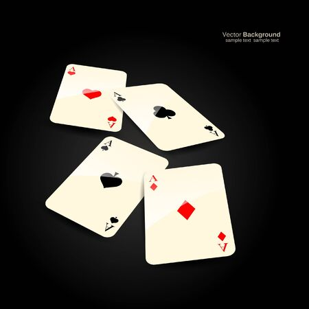 stylish vector casino cards background  Vector