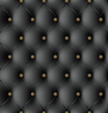 sofa viejo: Textura de cuero negro real Vectores