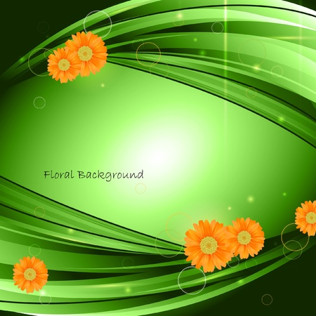 art painting: floral composition