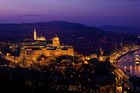 Budapest panorama by nightfall  photo