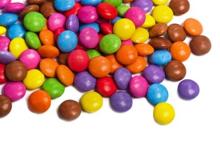 multi colored smarties candy Banco de Imagens