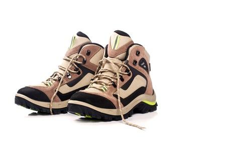wellfare: Hiking boot on a white background