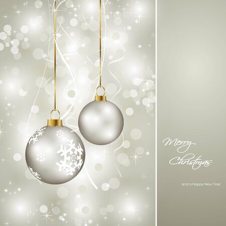 elegant christmas: elegant christmas card  Illustration
