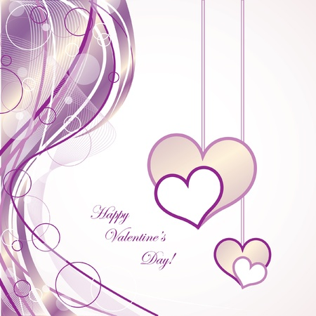 Elegant Valentines Day Card Illustration