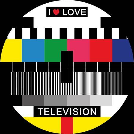 elvonult: kineszkóp vektoros számára, akik szeretik a televízió Illusztráció