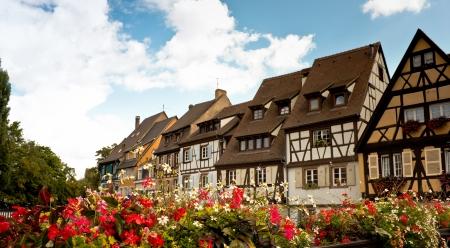 alsace: Little venice from a bridge, Colmar, Alsace, France
