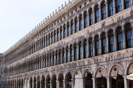 Great building on piazza San Marco in Venice, Italy. Concept of architecture and landmarks.