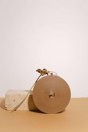 eco roll of paper tape Standard-Bild