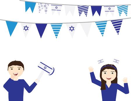 Israeli Independence day background