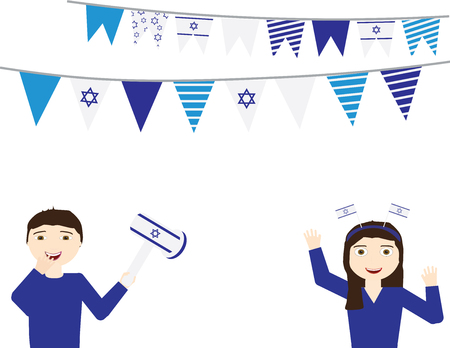 Israeli Independence day background