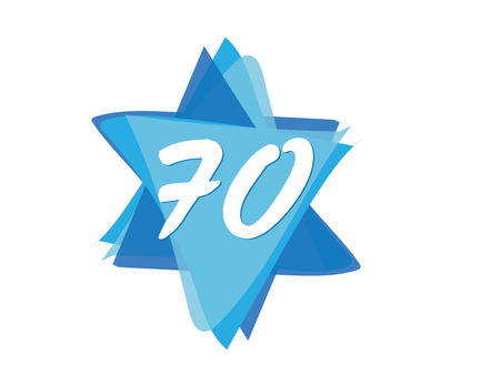 Israel 70th independence day logo icon Illustration