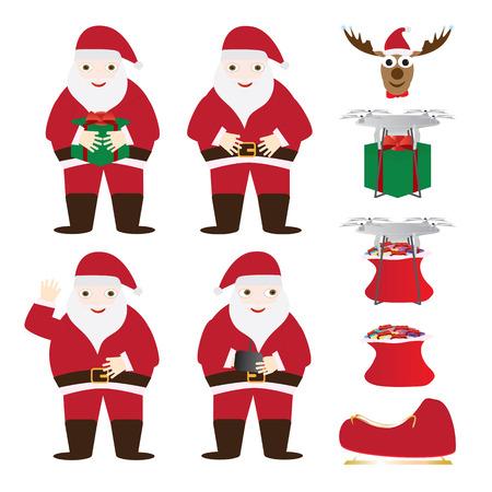 Santa Claus Christmas Characters set