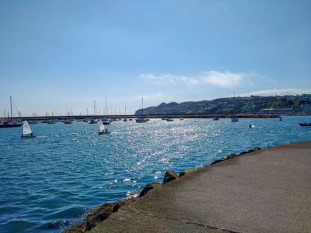 View from Howth Harbor, Dublin Ireland Summer day Out trip Reklamní fotografie