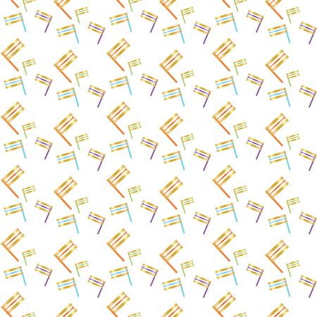 Colorful Groggers seamless pattern on White background