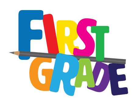Alfabet pierwszej klasy z ołówkiem