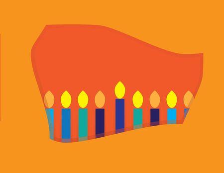 Abstract Hanukkah Menorah frame Ilustracja