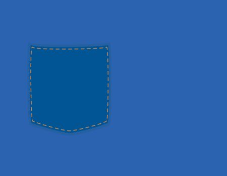 Simple vector denim and pocket background