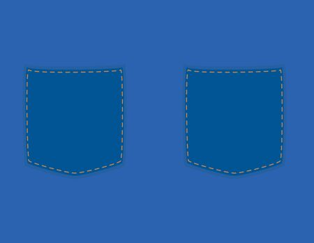 Simple vector denim and Two pockets background Illustration