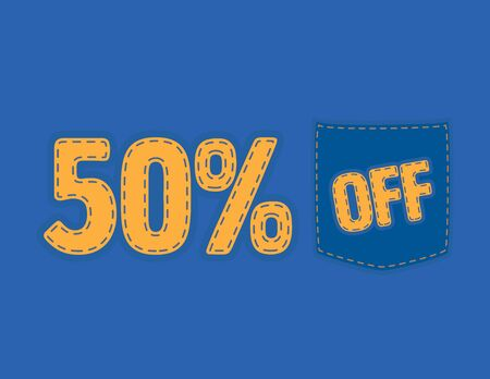 Colorful Sale vector patch - 50% off