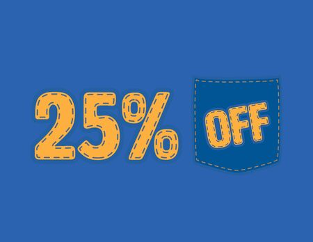 Colorful Sale vector patch - 25% off