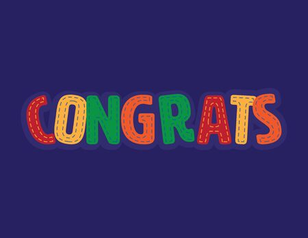 Colorful congratulations vector patch